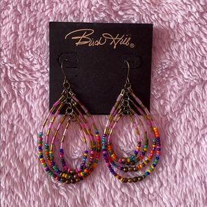 Buck Hill multi-colored layered-dangle earrings